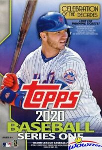 2020-Topps-Series-1-Baseball-EXCLUSIVE-HUGE-Factory-Sealed-67-Card-HANGER-Box