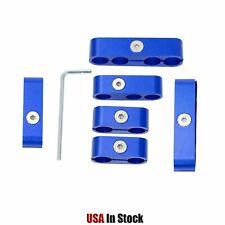 Spark Plug Wire Separators Aluminum Blue 8mm 95mm For Loom 302 350 454