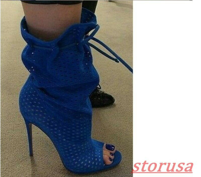 Womens New Peep Toe Hollow Hollow Hollow Out Stiletto High Heels Gladiator Sandals Boots shoes 77f662