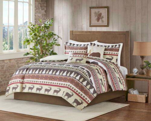 MarCielo 5 Piece Luxury Rustic Lodge Christmas Comforter Set Montana