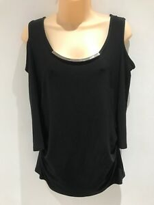 Nwt Out Black Cut Uk Shoulder 16 Lyman Cold Top Frank Size xq0t1wT