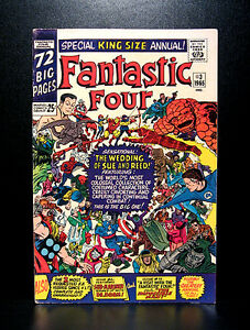 COMICS-Marvel-Fantastic-Four-Annual-3-1965-Wedding-of-Reed-and-Sue-RARE