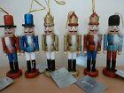 Gisela Graham Glitter Wood Nutcracker Christmas Tree Decoration 6 Designs 12cm