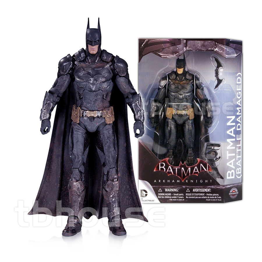 7  BATTLE DAMAGED BATMAN figure ARKHAM KNIGHT exclusive DC COLLECTIBLES series 1