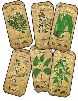 LOT OF~12 Vintage look LABELS~Grungy labels ~Botanical Labels