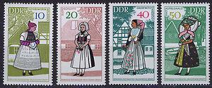 ALEMANIA-RDA-EAST-GERMANY-1968-MNH-SC-992-95-Sorbian-regional-costumes