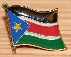 SUDAN Africa Country Metal Enamel Flag Lapel Pin Badge