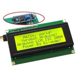 Arduino-Serial-IIC-I2C-TWI-2004-204-Yellow-Character-LCD-Module-Display-Screen