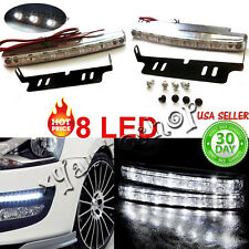 "6"" 8 LED DAYTIME RUNNING PROJECTOR HEADLIGHTS BUMPER FOG LIGHTS - UNIVERSAL"