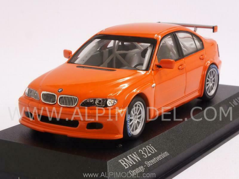 BMW 320i Racing E46 4 Street Version 2005 orange 1 43 MINICHAMPS 400052400