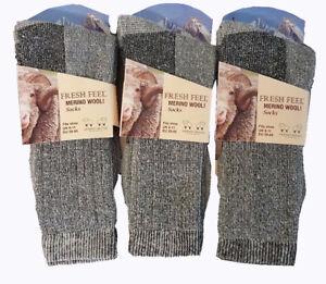 Merino-wool-Men-039-s-Thick-Chunky-Work-Hiking-Boot-thermal-Socks-Size-UK-6-11