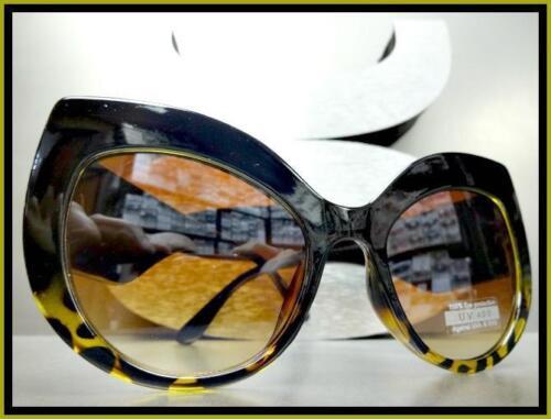 Oversized Exaggerated Vintage Retro Cat Eye Style SUN GLASSES Thick Black Frame