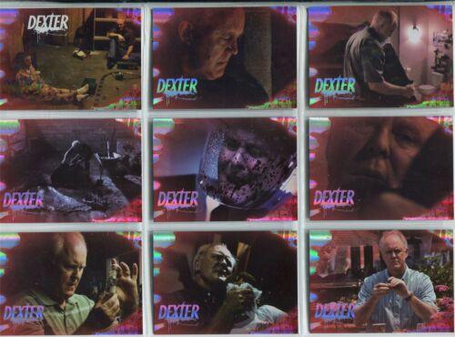 Dexter Season 4 Complete Trinitys Kill Chase Card Set D4:TM:1-9