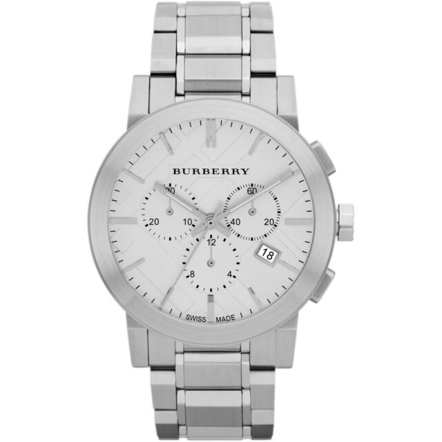 Burberry BU9350 - Men's Silver Dial Chronograph Stainless Steel Mens Watch