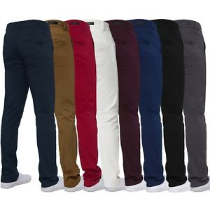 Enzo-Mens-Designer-Chinos-Stretch-Skinny-Slim-Fit-Jeans-Trouser-Pants-All-Sizes