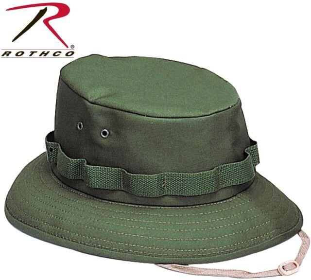 Kid s   Adults Olive Drab Green Military Style Boonie Hat Bucket Jungle ... 05b9517ada48