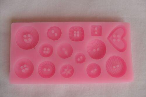 Moule Gâteaux en Silicone BOUTONS Multiformes Pour Pate à Sucre /& d/'Amande Cake