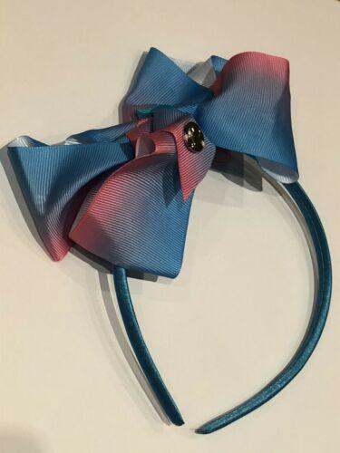 JoJo Siwa Bow inspired Headband Blue /& Pink