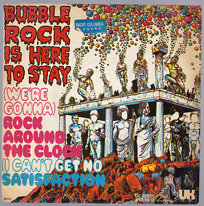 BUBBLE-ROCK-IS-HERE-TO-STAY-DISCO-45-GIRI-WE-039-RE-GONNA-ROCK-AROUND-THE-CLOCK