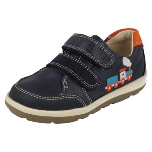 Clarks Chaussures Navy Softly bleu Garçons Tom OrUp7wOx