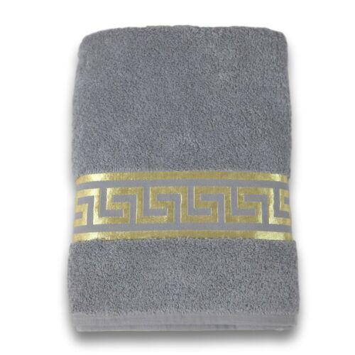 Exclusive Meander Towels 100/% Cotton Medusa Grey-Gold Towel Versac