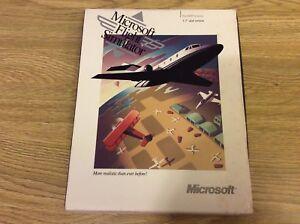 Microsoft-Flight-Simulator-3-5-034-Disc-Box-w-Manuel-Vintage-Program-Scenery-4-0