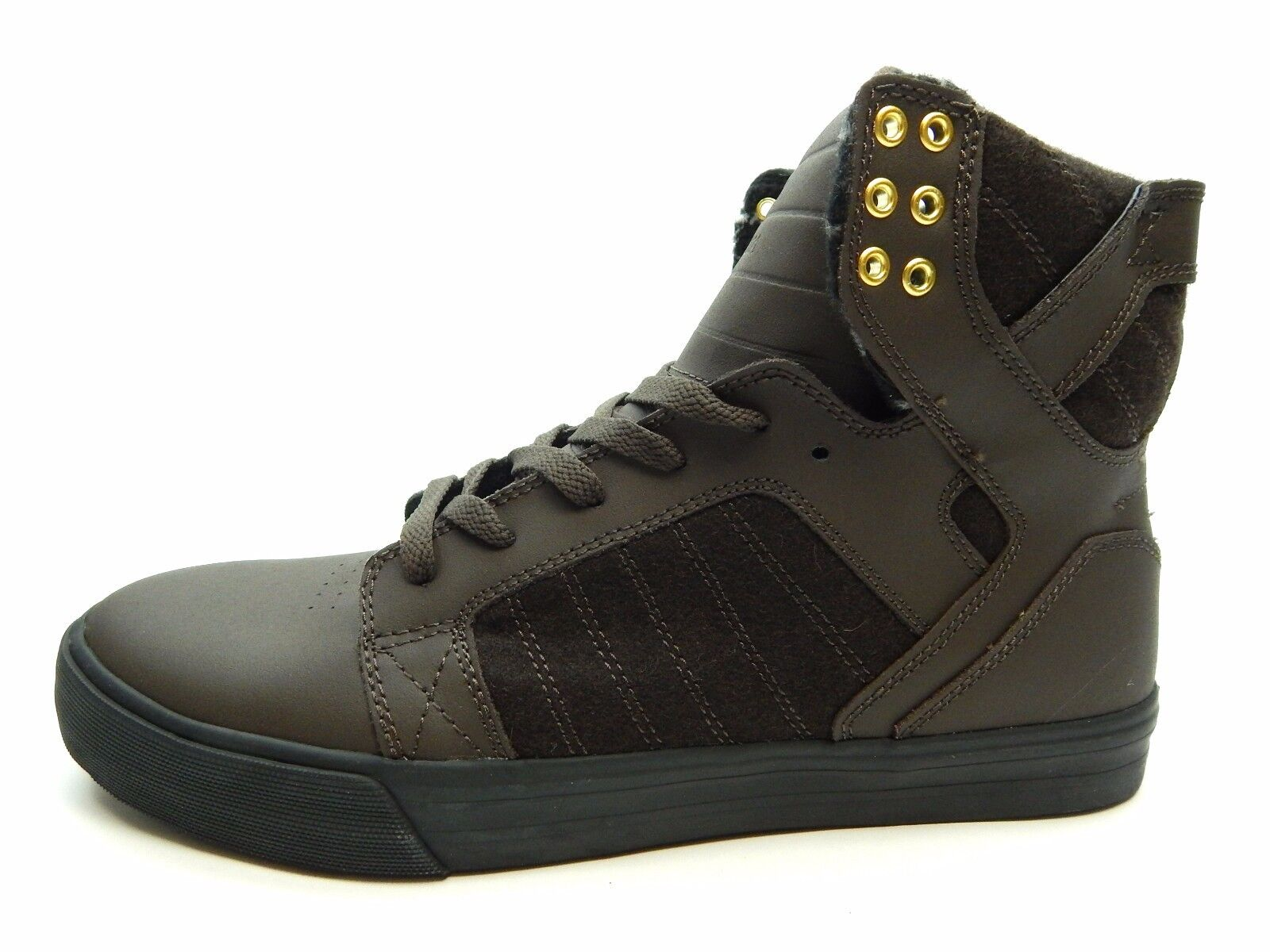 SUPRA MEN'S SKYTOP DEMITASSE BLACK MEN SHOES SIZE 7.5, 8.5 & 11.5