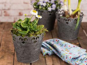 Fioriere Per Fiori ~ Vaso per piante ria zinco cm vaso da fiori grigio fioriera