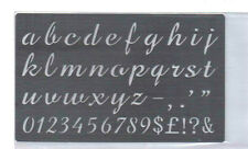 Stainless/Steel/stencil/Oblong/Lower Case/Alphabet/Emboss/Small