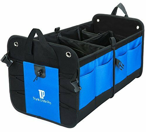 Trunkcratepro Collapsible Portable Multi Compartments Trunk Organizer Cargo Tool