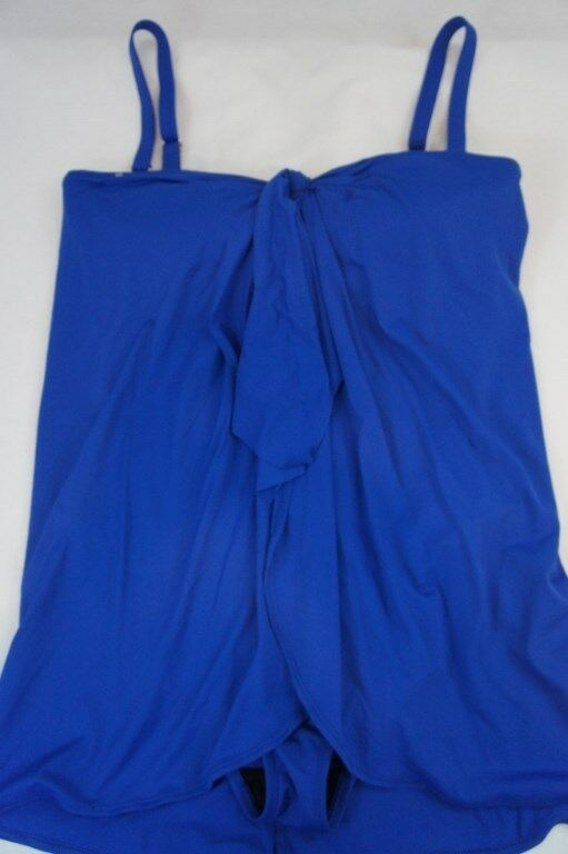 Ralph Lauren Swim Woman One Piece Sz 20W Marine bluee Flyaway Swimsuit LR5F111W