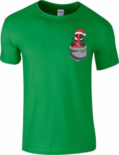 T Shirt Funny Pocket Version Christmas Birthday Gift Kids Men kids Top