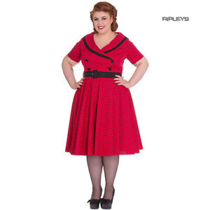 Hell-Bunny-40s-50s-Pin-Up-Swing-Dress-MIMI-Polka-Dot-Black-Red-All-Sizes