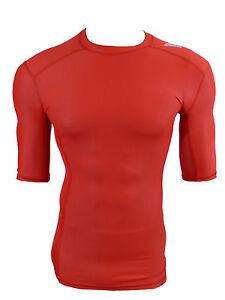 Adidas-TechFit-Climachill-Funktionsshirt-Compression-Laufshirt-rot-Gr-XXL