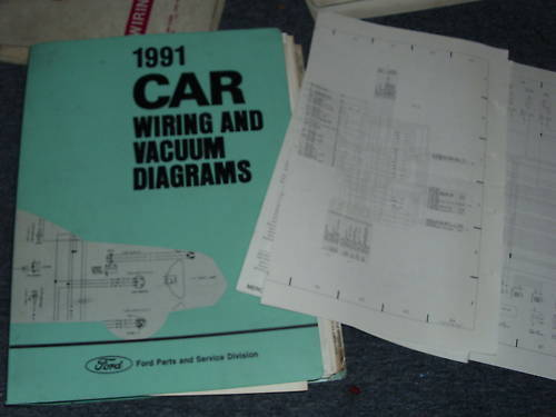 1991 Ford Escort Mercury Tracer Complete Factory Wiring