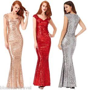 Goddiva-Sequin-Sweetheart-Fishtail-Maxi-Evening-Dress-Prom-Bridesmaid-Ball-Gown