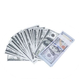 USA Fake Paper Bills USD Dollar Banknot Currency Toy Decoration Note