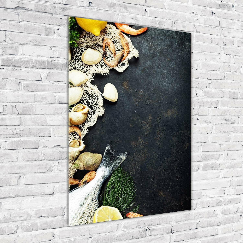 Wandbild Druck auf Plexiglas® Acryl Hochformat 70x100 Meeresfrüchte