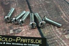 Linsenkopfschraube mit Innensechskant M5x16 CHROM verchromt M5 Schraube Linsen