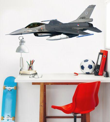 3D Fighter Aircraft A07 Car Wallpaper Mural Poster Transport Wall Stickers Zoe