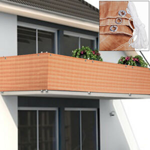 Image Is Loading Balcony Screen Privacy Fence Panel Terrace Cover Windscreen