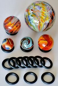 SHOOTER-MARBLE-DISPLAYS-LARGE-STANDS-10-PACK-SHOOTER-TOE-BREAKER-no-marbles