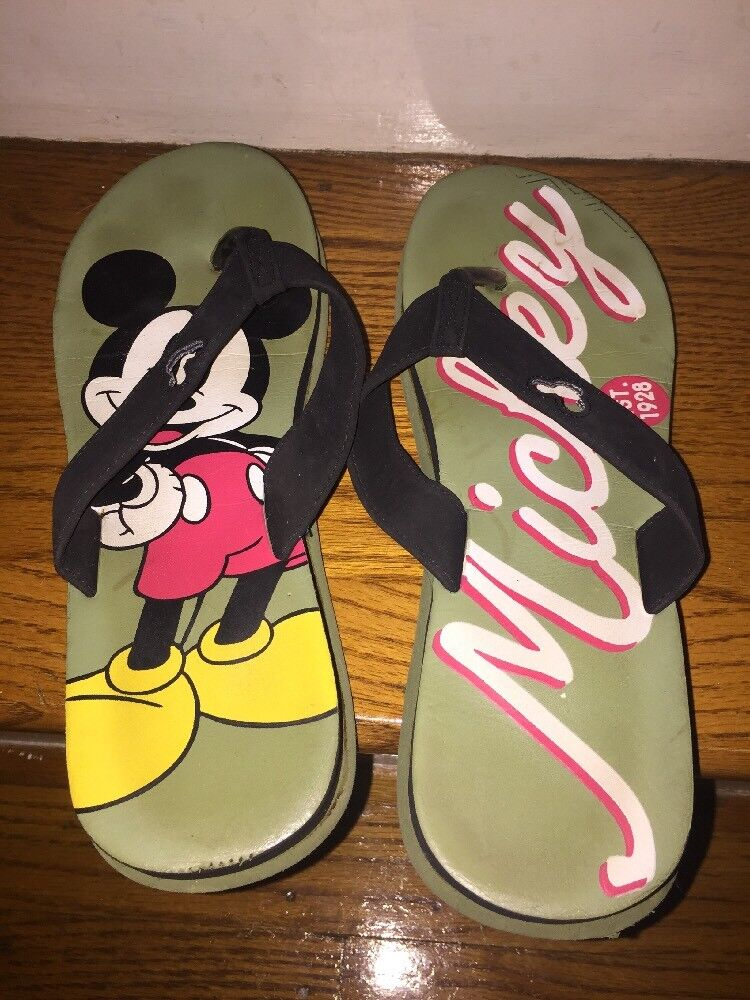 Walt Disney Store Mickey Mouse Women's Thongs Flip Flops Sandals Women's Mouse Shoes Size 10 7fb67f