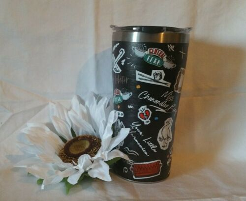 Stainless  Tumbler Black ***NEW*** Tervis ~ Friends Collage 20 oz