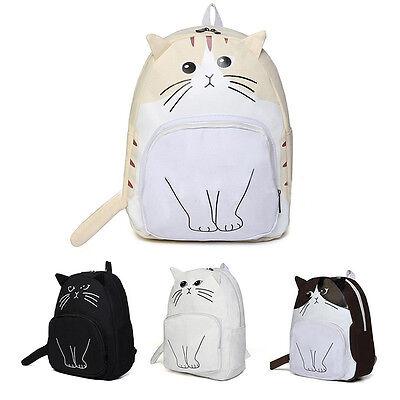 Women Girl Backpack Cute Cat Canvas School Bags.Bookbag Rucksack Handbag Satchel