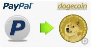 100 Dogecoin doge to paypal fast no commissione no fee max 24H