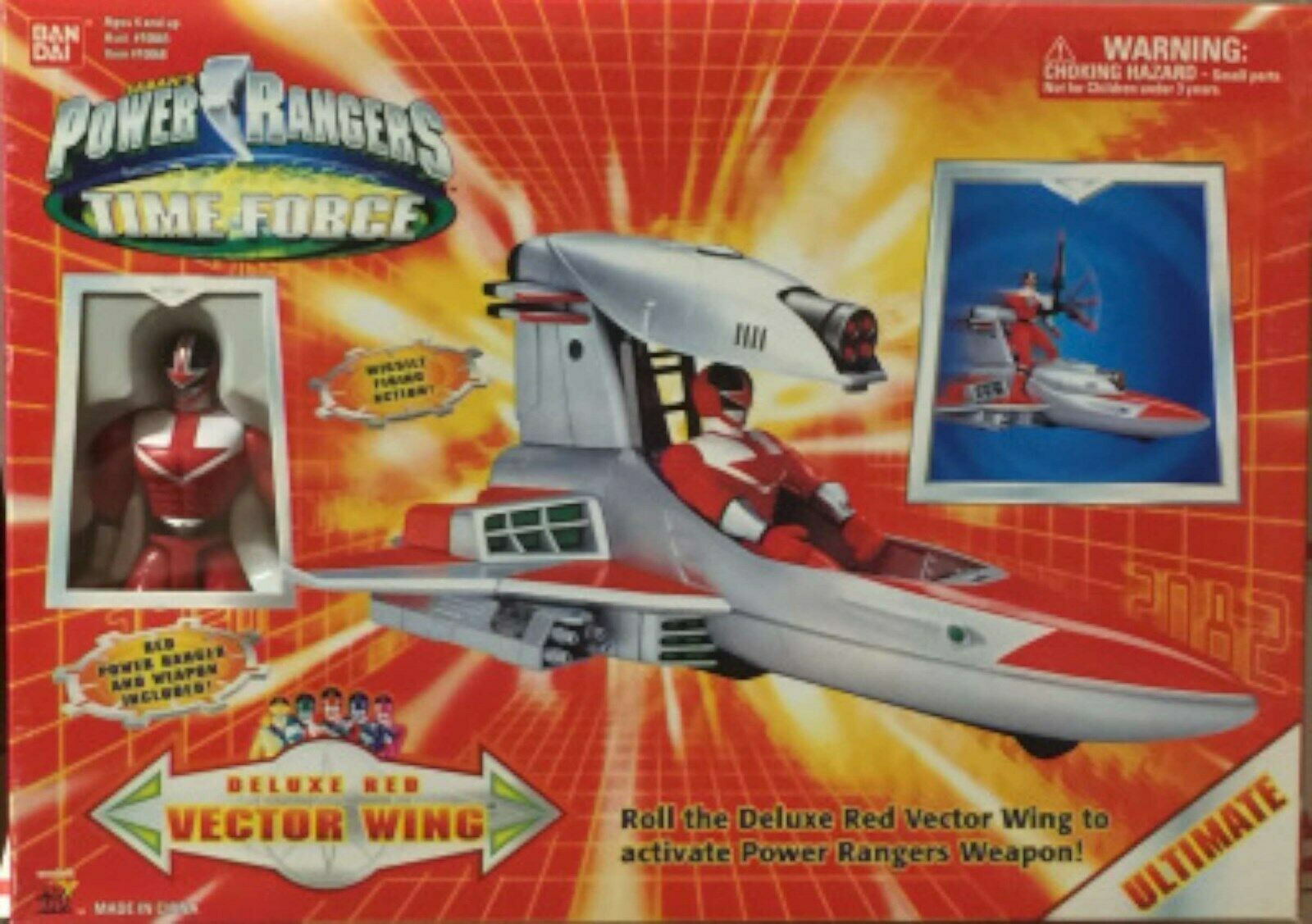 Power Rangers Time Force Deluxe Red Vector Wing  Box RARE NEW