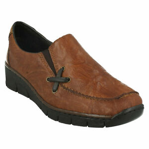 Details about Ladies Rieker' Wedge Heel Shoes 53783