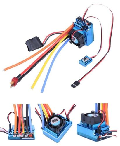 120A ESC Sensored /& Sensorless Brushless Speed Controller for 1//8 1//10 Car Truck