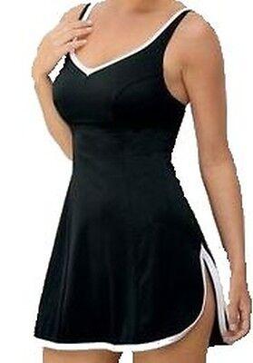 Miss MARY of SWEDEN 9300 Gr.38-60 B-E Cup Badeanzug mit Kleid Badekleid Schwarz
